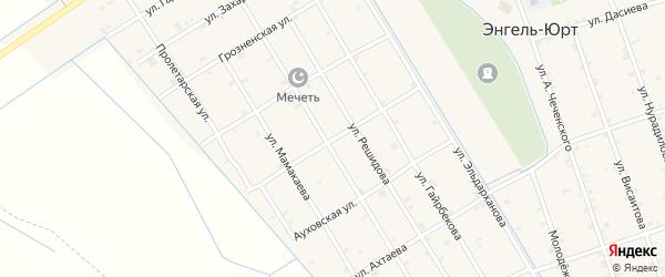 Ингушская улица на карте села Энгель-юрт с номерами домов