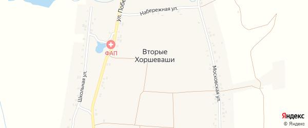 Улица Победы на карте деревни Вторые Хоршеваши с номерами домов