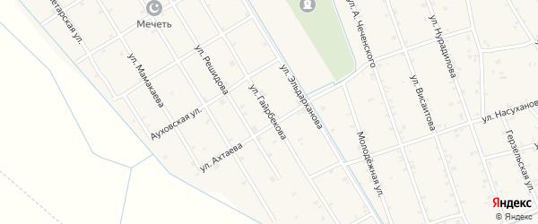 Улица Гайрбекова на карте села Энгель-юрт Чечни с номерами домов