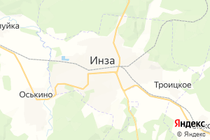 Карта г. Инза Ульяновская область
