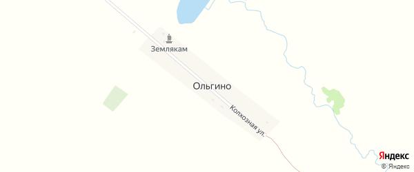 Колхозная улица на карте села Ольгино Саратовской области с номерами домов