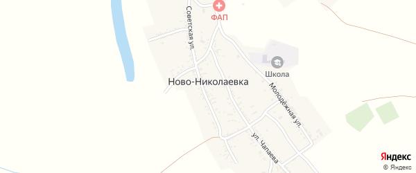 Переулок Пирогова на карте села Ново-Николаевки Астраханской области с номерами домов