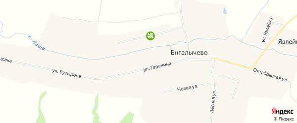 Карта села Енгалычево в Мордовии с улицами и номерами домов