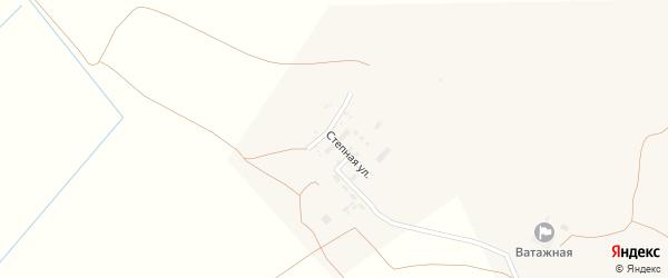Степная улица на карте Никольского села Астраханской области с номерами домов