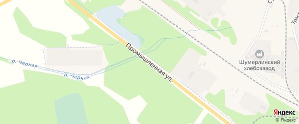 Промышленная улица на карте Шумерли с номерами домов