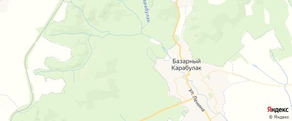 Карта территории Яковлевского МО Саратовской области с районами, улицами и номерами домов