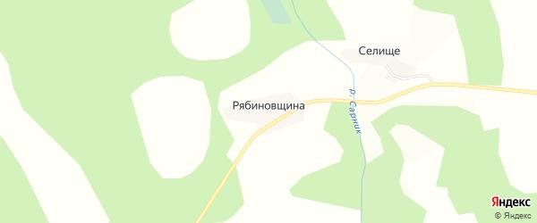 Карта деревни Рябиновщина в Вологодской области с улицами и номерами домов