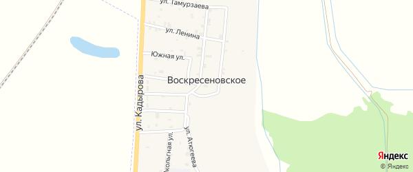 Южная улица на карте Воскресеновское села с номерами домов
