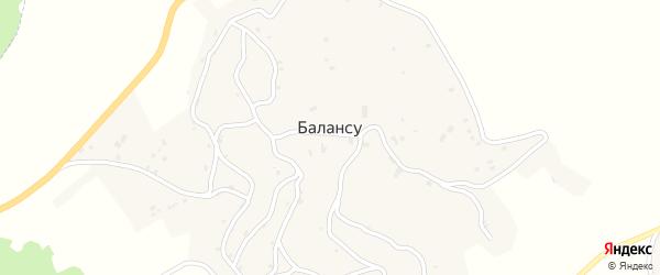 4-я Короткая улица на карте села Балансу Чечни с номерами домов