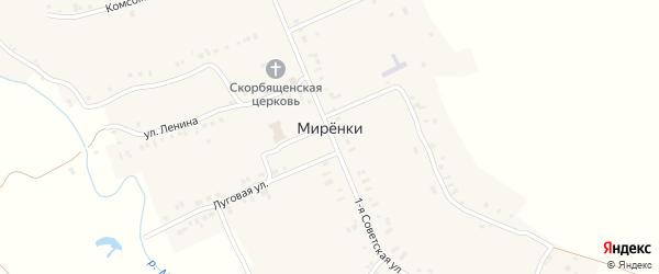 Комиссариатская улица на карте села Миренки с номерами домов