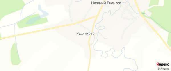 Карта деревни Рудниково в Вологодской области с улицами и номерами домов
