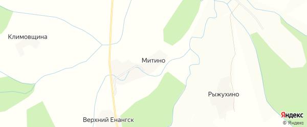 Карта деревни Митино в Вологодской области с улицами и номерами домов