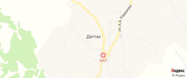 Северная улица на карте села Даттаха Чечни с номерами домов
