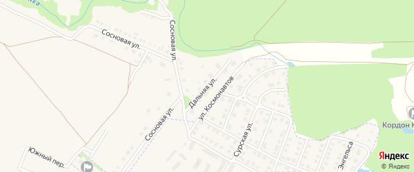 Дальняя улица на карте деревни Шумерли с номерами домов