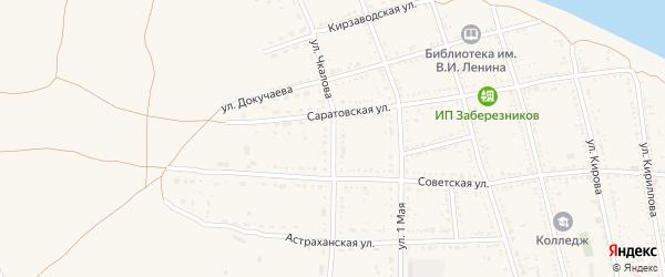 Улица Чкалова на карте Никольского села Астраханской области с номерами домов