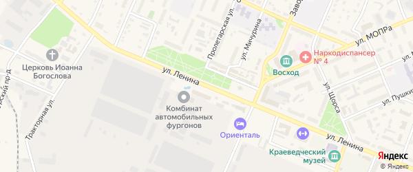 Улица Ленина на карте Шумерли с номерами домов