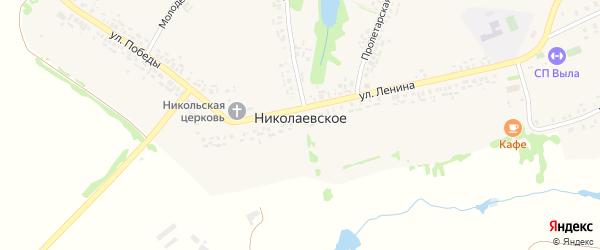 Пролетарская улица на карте Николаевского села с номерами домов