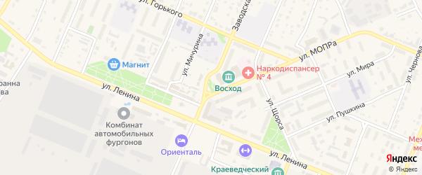 Площадь А.Т.Речнова на карте Шумерли с номерами домов