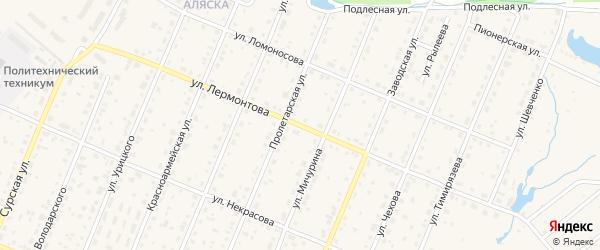 Улица Лермонтова на карте Шумерли с номерами домов