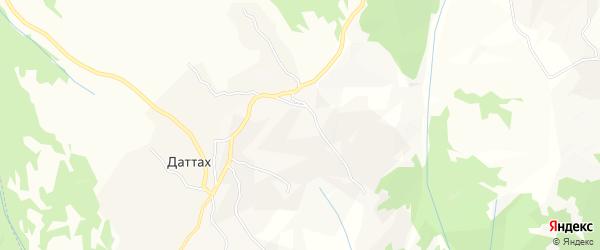 Карта села Даттаха в Чечне с улицами и номерами домов
