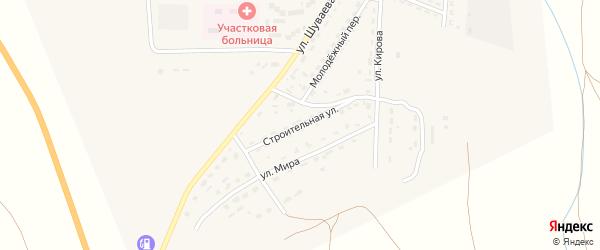 Строительная улица на карте Никольского села Астраханской области с номерами домов
