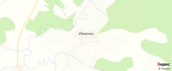 Карта деревни Ивакино в Вологодской области с улицами и номерами домов