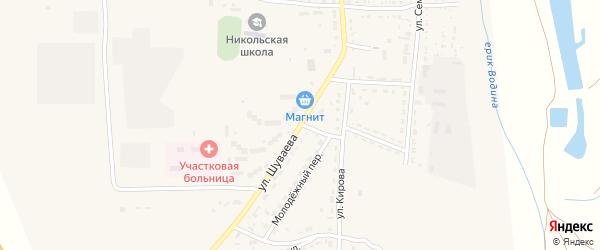 Улица им В.Шуваева на карте Никольского села Астраханской области с номерами домов