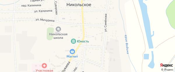 Переулок Семенова на карте Никольского села Астраханской области с номерами домов