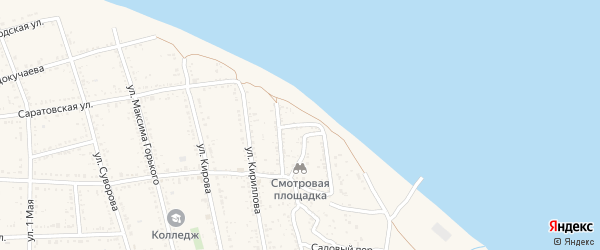 Переулок Докучаева на карте Никольского села Астраханской области с номерами домов