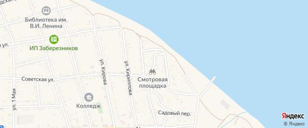 Переулок Олега Кошевого на карте Никольского села Астраханской области с номерами домов
