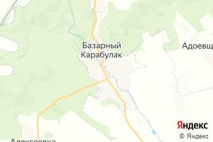 Карта пгт Базарный Карабулак