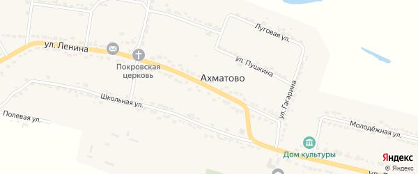 Улица Ленина на карте села Ахматово с номерами домов