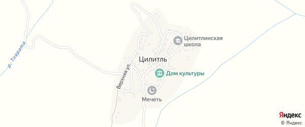 Школьный переулок на карте села Цилитля с номерами домов