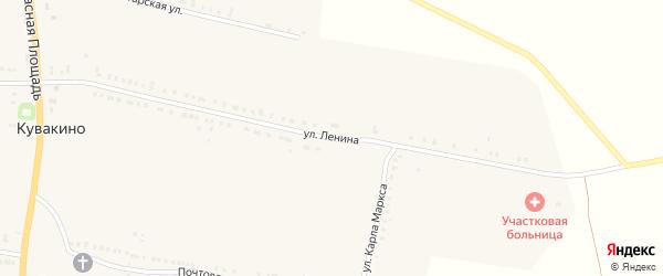 Улица Ленина на карте села Кувакино с номерами домов