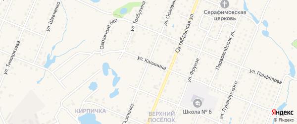 Улица Осипенко на карте Шумерли с номерами домов