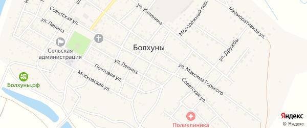 Советская улица на карте села Болхуны Астраханской области с номерами домов