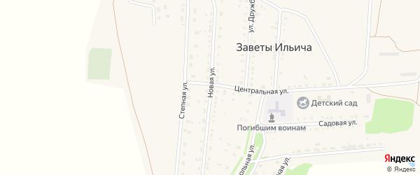 Новая улица на карте села Заветов Ильича Саратовской области с номерами домов