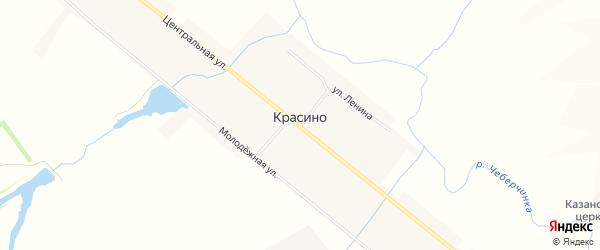 Карта села Красино в Мордовии с улицами и номерами домов