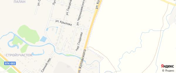 Улица Котовского на карте Шумерли с номерами домов