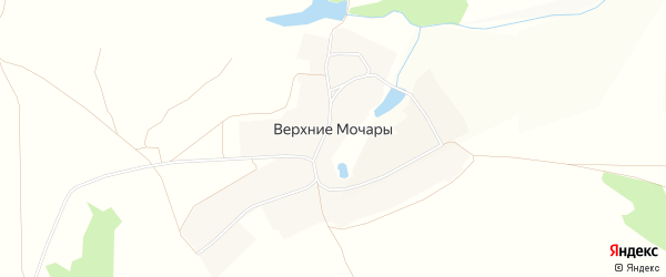 Карта деревни Верхние Мочары в Чувашии с улицами и номерами домов