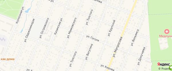 Улица Гоголя на карте Шумерли с номерами домов
