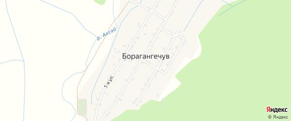 1-й переулок на карте села Борагангечув с номерами домов
