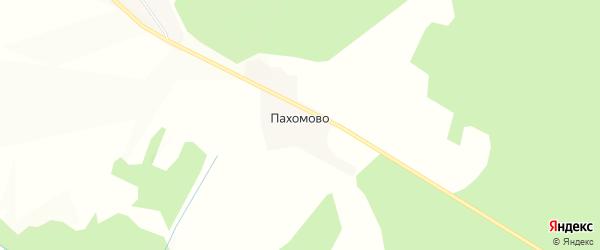 Карта деревни Пахомово в Вологодской области с улицами и номерами домов