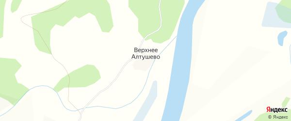 Карта деревни Верхнего Алтушево в Вологодской области с улицами и номерами домов