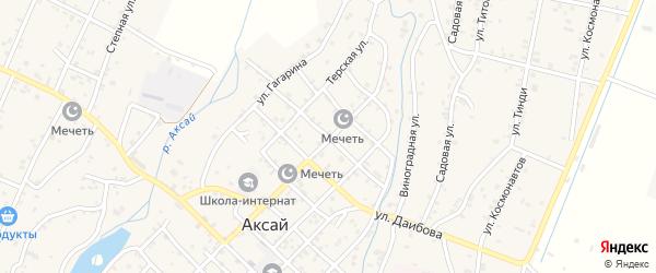 Кизлярская улица на карте села Аксая с номерами домов