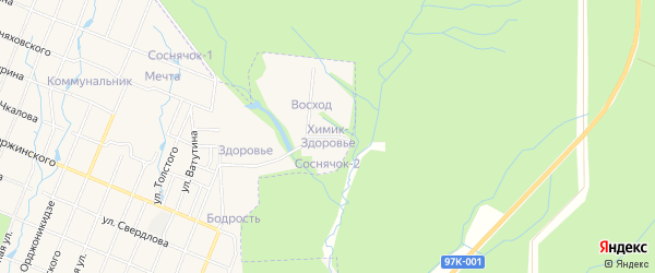 Садовое товарищество Химик-Здоровье на карте Шумерли с номерами домов