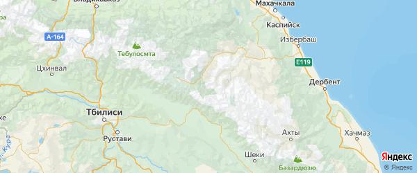 Карта Тляратинского района Республики Дагестана с городами и населенными пунктами