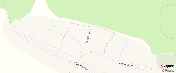 Новая улица на карте села Чуварлеи Чувашии с номерами домов