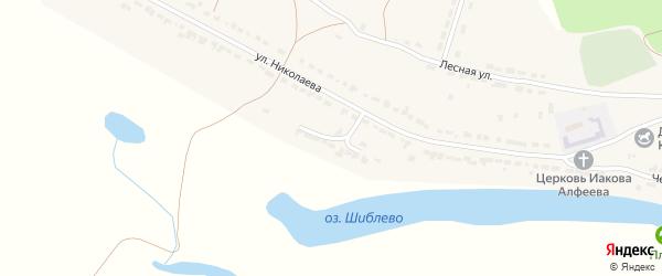 Озерная улица на карте села Чуварлеи Чувашии с номерами домов
