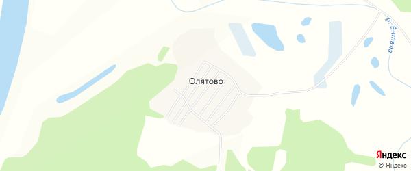 Карта деревни Олятово в Вологодской области с улицами и номерами домов